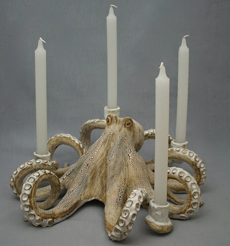 Octopus candle